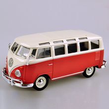 VW T1 bus T1 Van 1:25 Diecast Model Car Model metal diecast models miniature race Toy For Gift Collection(China)