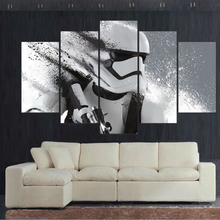 Art Printed Modern Canvas Wall Modular Poster Frame 5 Panel Movie Star Wars Character Pictures Home Decor Living Room Painting(China)