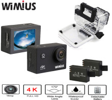 "Wimius Ultra 4K Action Cam WIFI WebCamera Full HD 1080P 16MP Mini Sport Camera 2.0"" LCD Accessories Kit Go Waterproof Pro 40M(China)"