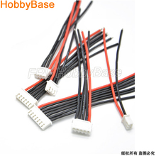 5pcs/lot 10CM 100MM RC Lipo Battery Balance Charger Plug 2s 3s 4s 5s 6s 22AWG Cable For IMAX B3 B6(China)