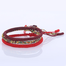 Drop Shipping High Quality Handmade Bracelet Multi Color Tibetan Buddhist Knots Lucky Rope Adjustable Bracelet 1255