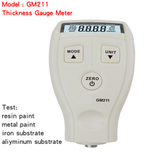 GM211 2in1 Film Coating Thickness Gauge Meter 0~1500um Non-magnetic Surface Paint Coatings Thickness Measurement can metal Paint