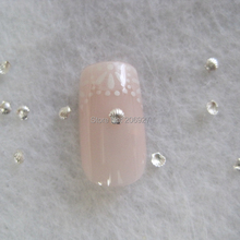 MD-722 30pcs Nail Decoration 2mm Metal Silver Shell Metal Nail Art Decoration