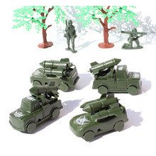 The latest round of missile armored vehicles fake army army vehicle weapon simulation plastic model the best gift for children