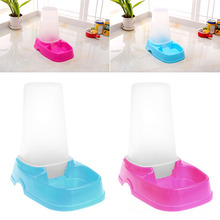 Automatic Pet Food Cat Rabbit Dispenser Food Feeder Water Bowl Dish Easy Clean