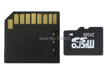 MicroSD Card 2GB TF flash card with free Black Short SD CARD Adapter
