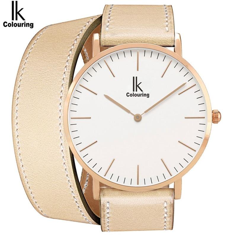 Fashion IK Womens Watch Relogio Feminino Quartz Long PU Leather Waterproof Watches Wristwatch Gift Free Ship<br><br>Aliexpress