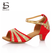 Buy 2017 Hot Selling Latin Dancing Shoes Woman Salsa Tango Ballroom Dance Latin Shoes Ladies Low Heels Sandalias De Baile Salsa for $13.99 in AliExpress store