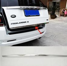 FIT FOR 2007 2008 2009-2015 LAND ROVER FREELANDER 2 CHROME REAR TRUNK BOOT TAILGATE DOOR COVER TRIM MOLDING STRIP ACCESSORIES