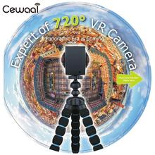 Cewaal WiFi 20 million 4K HD Video 3D Camera Shooting Photo Panoramic Wide Angle 720 Degree Double Lens Outdoor  VR Camcorder