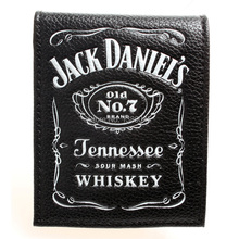 Jack daniels, boys and girls students personality fashion short transverse section 2 fold wallet DFT-1336