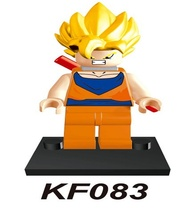 KF083 2Super Heroes Star Wars Dragon Ball Z Goku Bricks Son Vegeta Master Model Action Building Blocks Children Gift Toys - Minifigures store