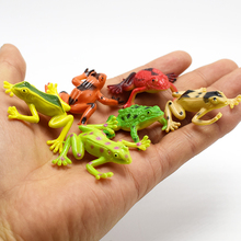 12pcs/lot Lifelike frog Simulation Tree frogs Action Figure Toy For funny Practical Jokes toys For Kids April fool's day