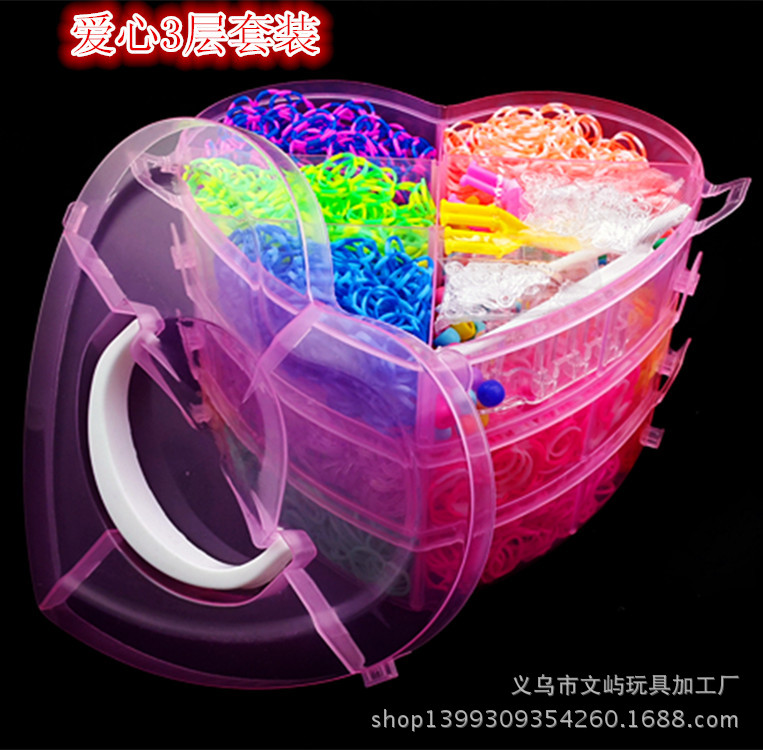 Fashion Children Headwear DIY Loom Rainbow Develop intelligence Gum Elastic Band Hair Accessories Gum Scrunchies Happy Childhood<br>