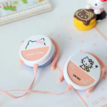 IG15 Hello kitty cartoon ear hook earphones headphone mobile phone general ear hook Earphones for iphone Samsung xiaomi HTC