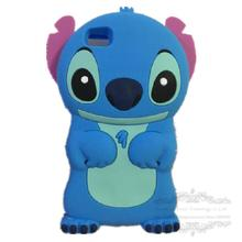 3D Cartoon Model Soft Rubber Skin Silicone Cute Stitch Case Cover for Huawei Ascend P8 Lite with Movable Ear Mobile Phone Case