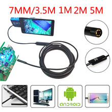 Buy Android Phone Micro USB Endoscope Camera 7 mm Lens 6LED Portable OTG USB Endoscope 1M 2M 3.5M 5M USB Android Phone Borescope for $9.99 in AliExpress store