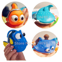Finding Dory Baby Bath Toy Set of 4 Dory Nemo Mr. Ray Destiny Squirters Figure Cute Toys for Kids Gifts