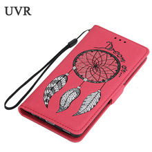 UVR For Huawei P9 Case Glitter Vintage Bag For Huawei P 9 Cover Cases Wallet Case Dreamcatcher Mobile Phone Bags Kickstand(China)