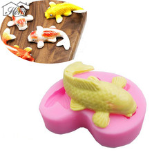Fish Cartoon Silicone Fondant Cake Molds 3D Fish Candle Moulds Soap Mold Chocolate Jelly Mould Sugarcraft For Baking Tools DIY