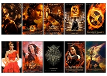 10 pcs/set The Hunger Games Series Movie Poster Souvenir Card Sticker DIY Decoration Anti-Dust Bus ID Card Stickers 1107