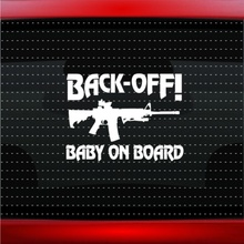 Car Styling For Baby On Board #3 Gun Funny Cute Family Car Decal Window Vinyl Sticker(China)