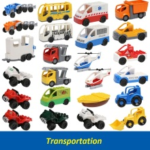 New Coming Single Sale Duplo Big Size Transportation Building Block Parts Toys Collection Gift Baby Toy(China)