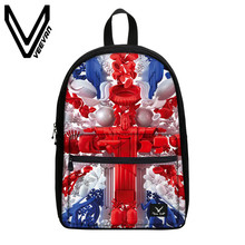 VEEVANV Brand 2017 American Flag Image Bookbags 3D Prints Backpack Canvas School Teenagers Shoulder Bag School Children Backpack