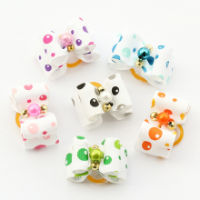 Armi store Handmade Dog Accessories Multicolor Pearl Core Ribbon Bow 6022014 Bow Tie  Dog Supplies, Free Shipping.