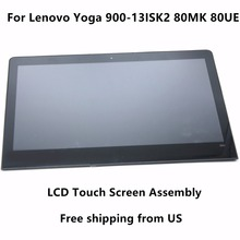 "For Lenovo Yoga 900-13ISK2 80MK0025AU 80MK0011US 80MK002JUS Touch Glass Digitizer + IPS LCD Screen Display Assembly+ Frame 13.3""(China)"