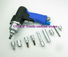 "High Quality 3/8"" Air Pneumatic Impact Wrench Gun Tool with 9pcs accessories"