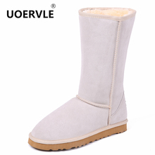High Quality Brand Snow Boots Women Fashion Genuine Leather Australia Classic Women's High Boot Winter Unisex Snow Shoes US-4-11(China)