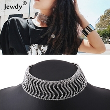 New Rhinestone Choker Crystal Pendant Necklace Fashion Jewelry 2017 Collar Choker Chunky Statement Necklaces For Women Gift Mar