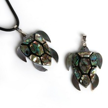 New Coming 40*48mm Natural Abalone Shell Turtle Tortoise Pendant , Fahion Necklace Pendant for Jewelry Findings Making
