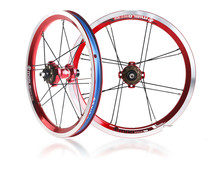 Ultralight 756g Mialo 14 inch Folding Bike Wheelset BYA412 wheels BMX Wheelset BMX Parts