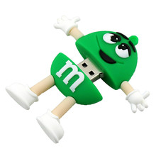 cheapest Cute Cartoon M&m's Chocolate M Bean 4gb 8gb 16gb Usb Flash Drive 8gb 16gb Memory Stick pen drive 32 gb cute