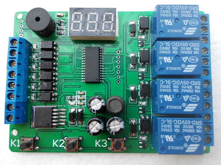 5/12/24V four relay module can be programmed to trigger delay time of the motor positive inversion controller<br>