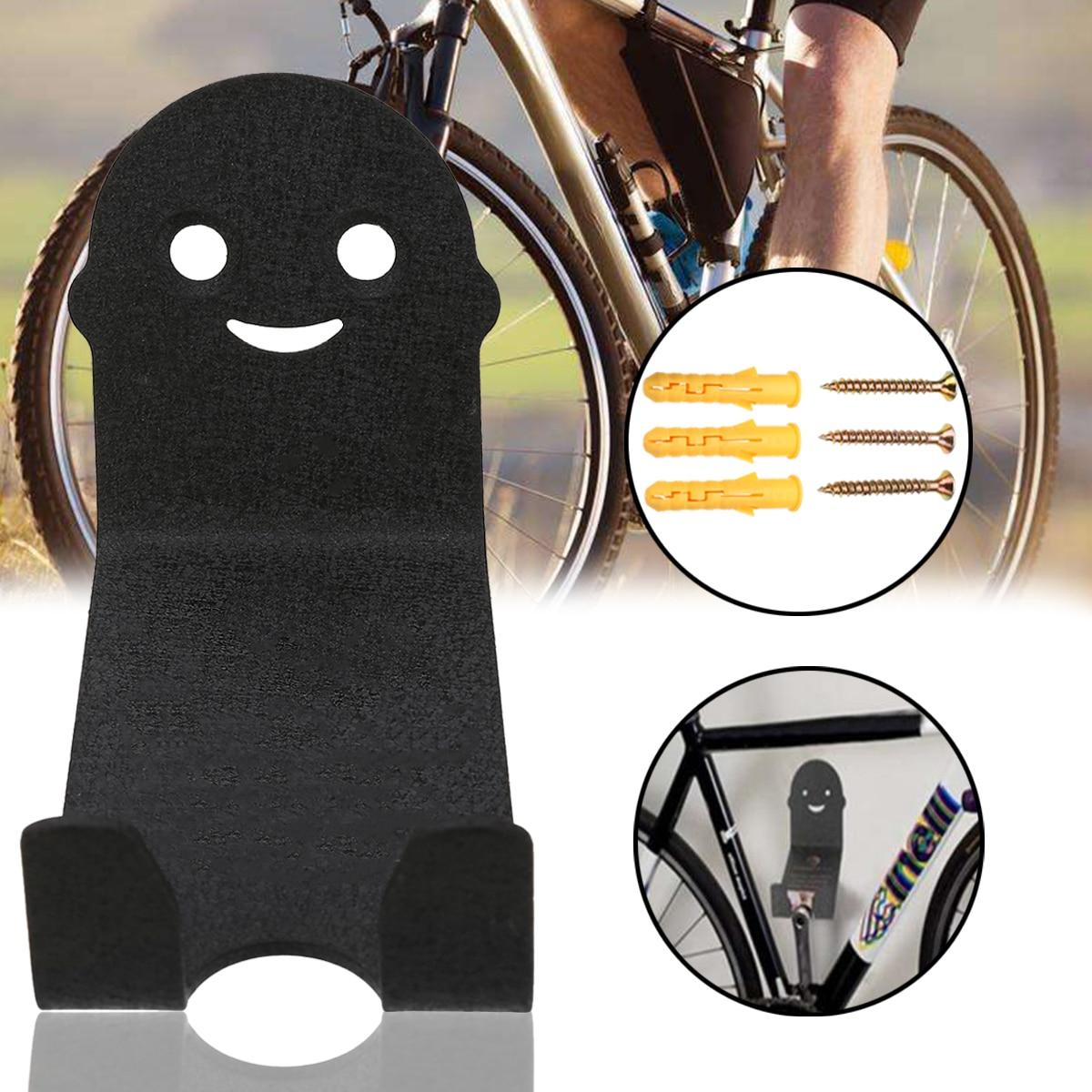 2Pcs Bike Bicycle Cycling Pedal Tire Wall Mount Storage Hanger Stand Rack Black