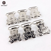 Let's Make Teddy Bear Suspender Clips (40pcs)Suspender Metal Clips And Natural DIY Draft Pacifier Holder Instructions