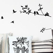 Birds On Branches Tree Wall Decals Decorative Sticker Bedroom Wall Mural Arts Classical Black Removable Binyl Bird Stickers