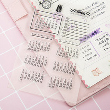 1 sheet DIY Calendar Transparent Clear Rubber Stamp Seal Paper Craft Scrapbooking Decoration Projects(China)