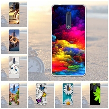 Luxury Cartoon Flower Case for Nokia 5 Case Silicone Soft Cover for Nokia 5 Nokia5 Fundas Coque Cases For nokia 5 Cover 5.2 inch(China)