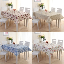 Waterproof & Oilproof Wipe Clean PVC Vinyl Tablecloth Dining Kitchen Cover Protector(China)