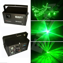Free Shipping 1W Laser Light green Color Animation Beam Stage Lighting KTV Disco DJ Light 1000mW DMX512 Cartoon Laser Lights