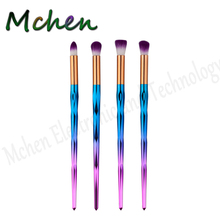 Do Dropshipping 4pcs Eyeshadow Brush Sets Rainbow Diamond Make up Eye Brow Brushes Cosmetics Beauty Hair Foundation MakeUp Brush(China)