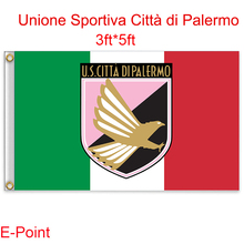 Italy (Serie A) U.S. Citta di Palermo hanging decoration Flag B 3ft*5ft (150cm*90cm)(China)