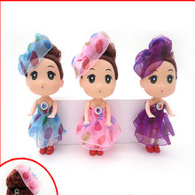10pcs/set  Korean style hat Wedding Doll wholesale children's girl dolls toys fashion pendant jewelry keychain