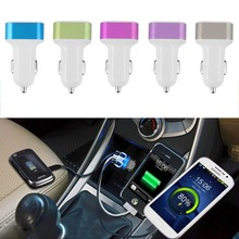 1Pc 5color Hot Triple Universal USB Car Charger Adapter USB Socket 3 Port Car-charger 2.1A 1A 1A For iPhone for Samsung Hot Sale
