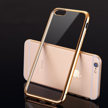 Case For Apple iPhone 5 5S SE 6 6S plus 7 Plus Royal Luxury style Plating Gilded Transparent TPU Phone silicone soft Case Cover(China)