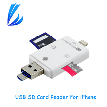 LL TRADER i-Flash Drive Multi-Card OTG Reader HD Micro SD & TF Memory USB Card Reader Adapter for iPhone 7/6/5/Andriod/PC Device(China)